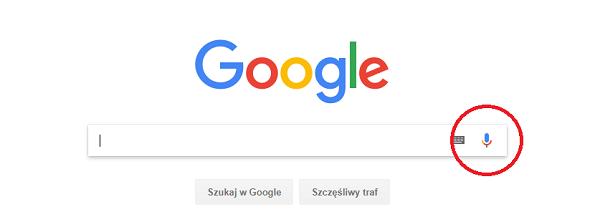 Lokalne wyszukiwanie głosowe w wyszukiwarce Google