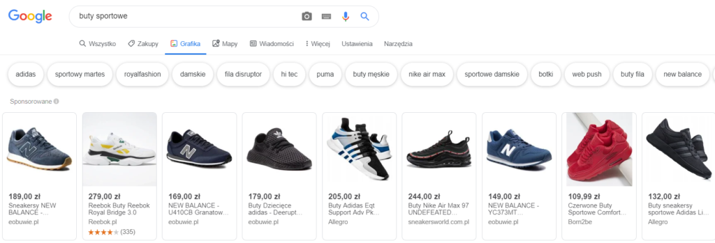 Reklama produktowa w Google
